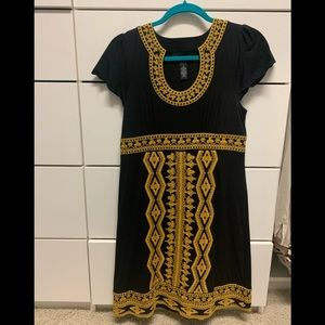 Beautiful black embroidered dress